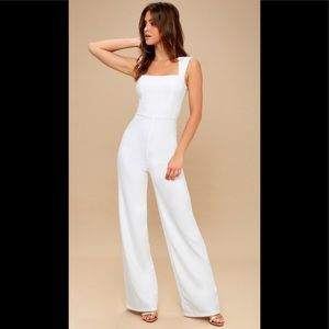 Lulu's white pants jumpsuit size medium
